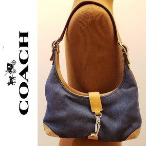 COACH Hobo Denim & Leather Shoulder Bag